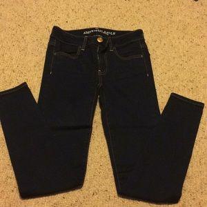 American Eagle Dark blue jegging jeans size 0